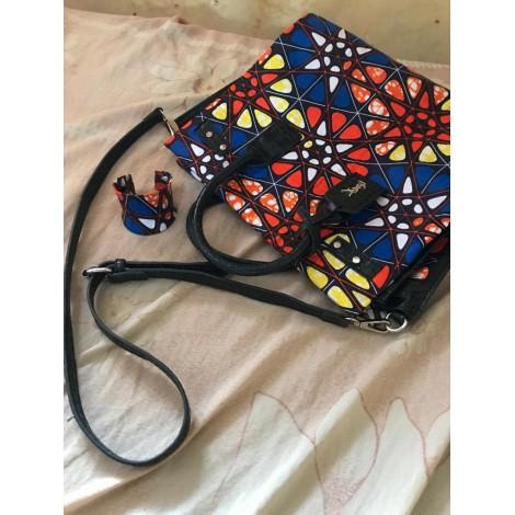 Bracelet + sac en pagne multicolore