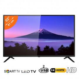 Nasco Smart TV LED - 32 Pouces LED - USB - HDMI - Wifi - Noir - Garantie 12 Mois