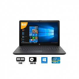 "Hp Ordinateur Portable Intel Core I3 - 15"" - 4Go RAM/ 500Go HDD - Noir - 6 Mois De Garantie"