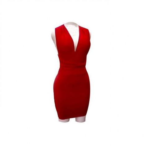 Robe Sexy Dos Croisé - Femme - Rouge