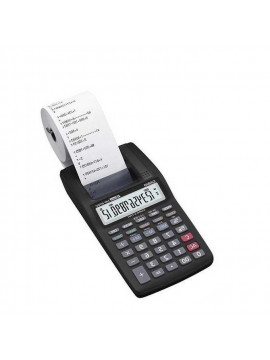 Casio Mini Calculatrice à Bande Portable 12 Chiffres HR-8TM-BK - Noir