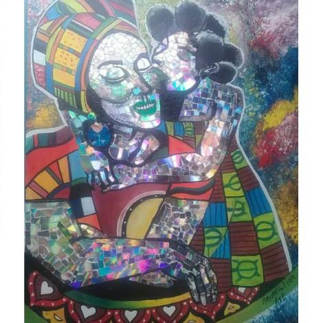 Tableau De Peinture Africaine 100*100cm